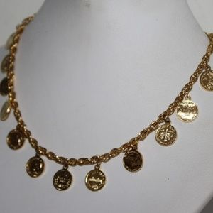 US mint coin, gold necklace